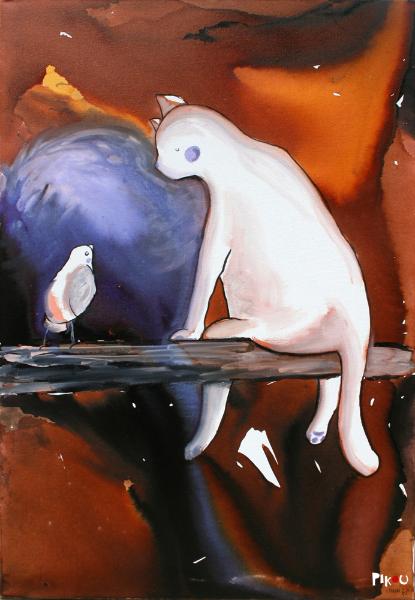 pikou-cat-bird-toile